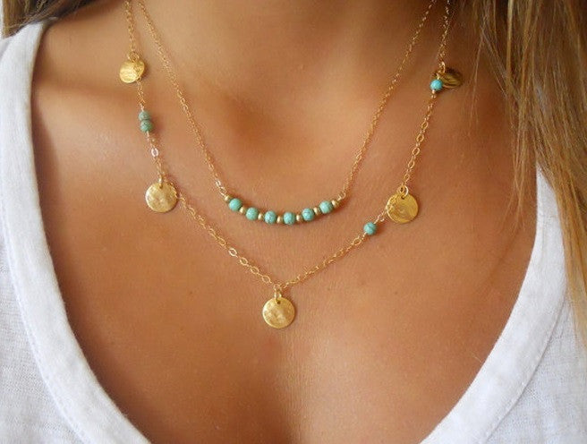 Lovely Turquoise Pendant Necklace