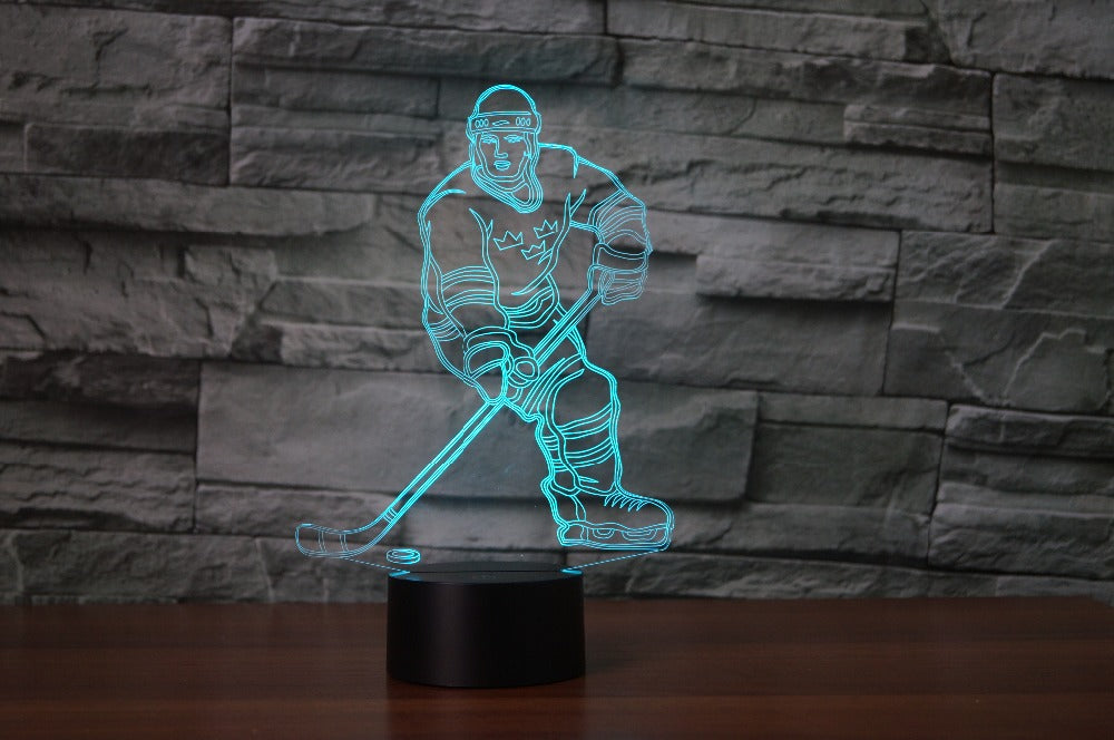 Ice Hockey Player - 3D Table Lamp