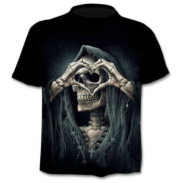 Skull With Love 3d T Shirt