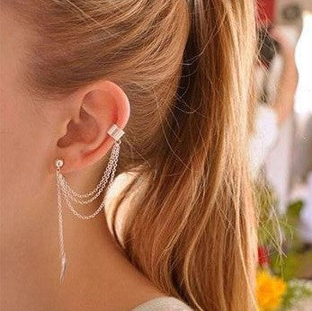 Beautiful Tassel Leaf Ear Cuff Earring