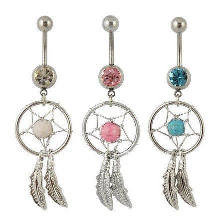 Body Gem Dream Catcher Belly Piercing