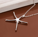 Beautiful Silver Starfish Necklace
