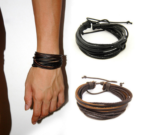 Surfer's Multilayer Leather Bracelet