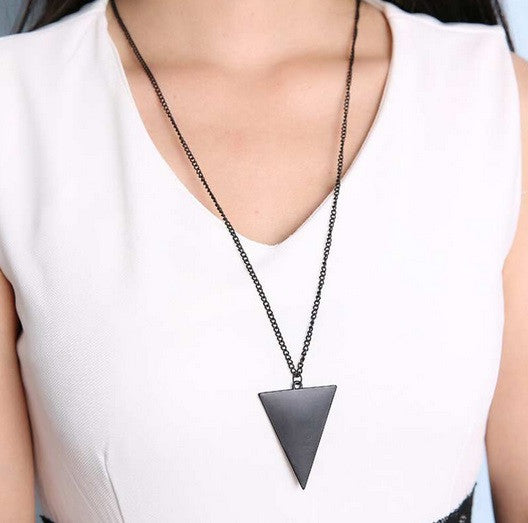 Gothic Triangle Long Necklace