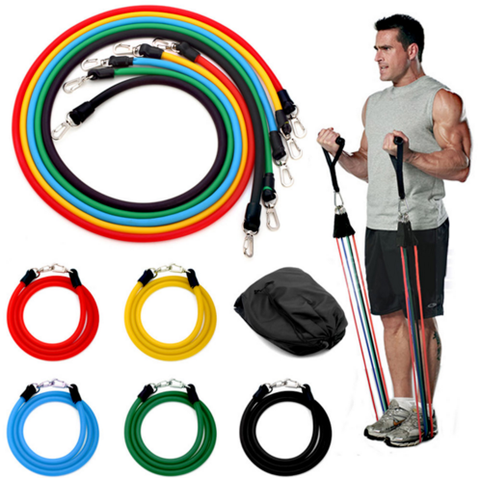 Yoga 11 Piece Resistance Bands Set