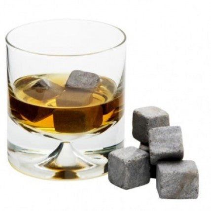 Set of 9 Whiskey Stones With a Velvet Pouch