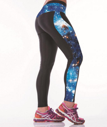 Multi-Color Space Yoga Leggings