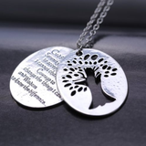 Tree of Life with Serenity Prayer Necklace