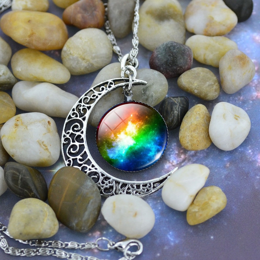 Rainbow Moon Chain Necklace