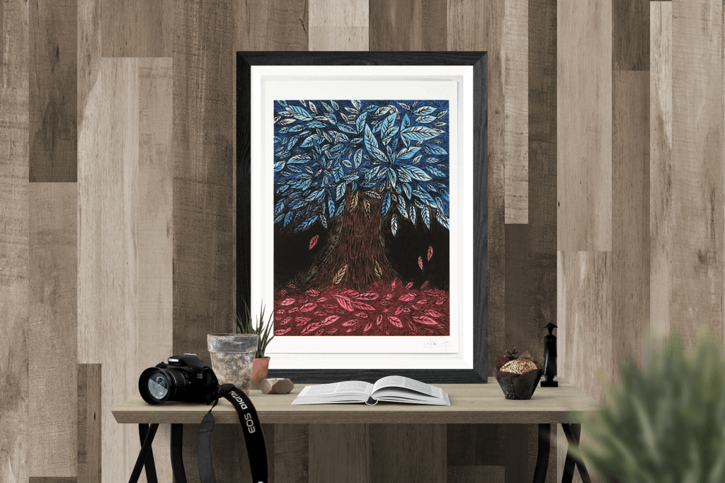 Blue Leaves (Art Print)