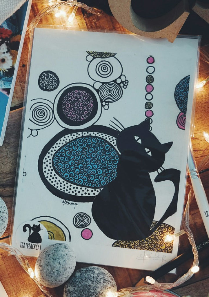 In the Place of Pink and Gold (Art Print) , #THATBLACKCAT , Prints - 2