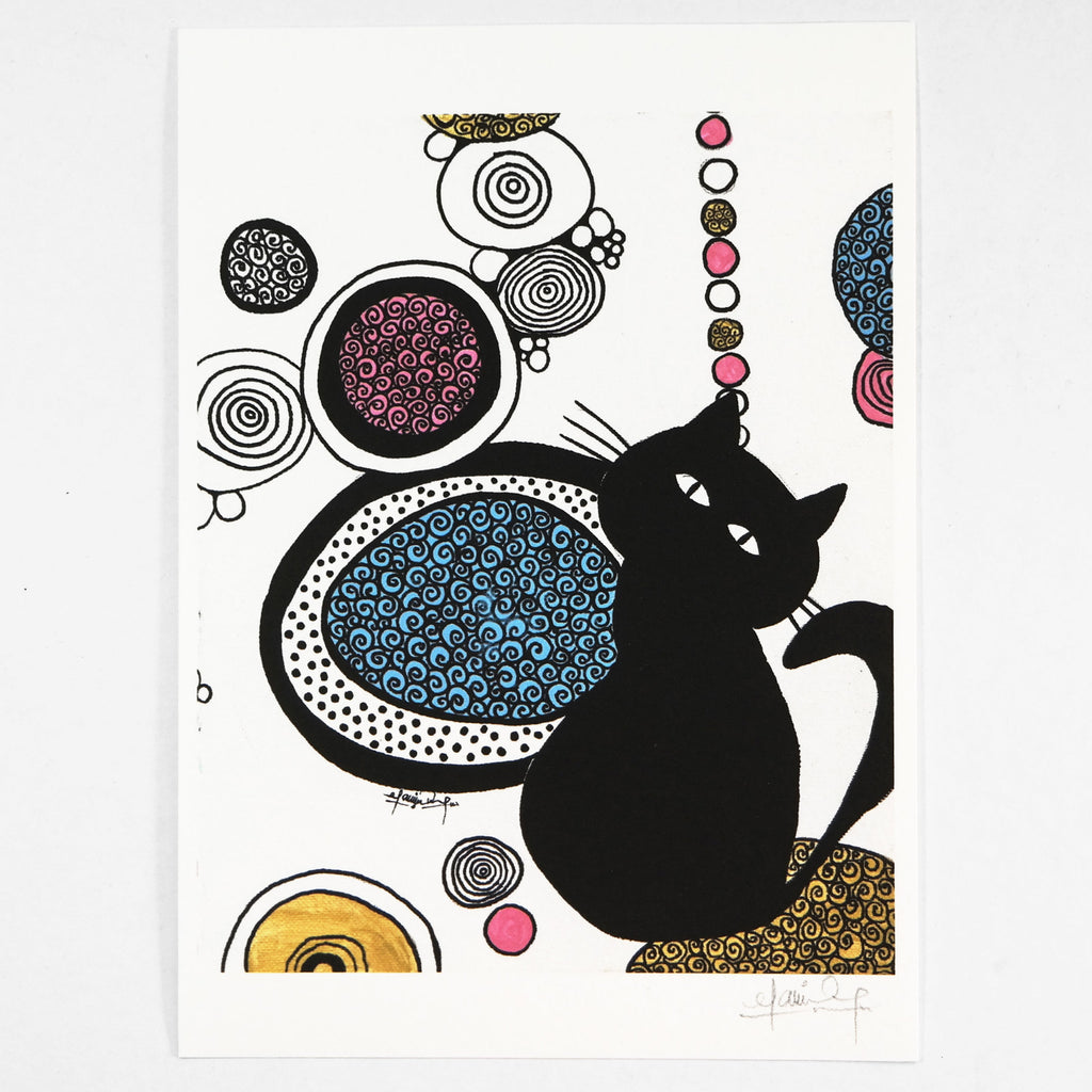 In the Place of Pink and Gold (Art Print) , #THATBLACKCAT , Prints - 3