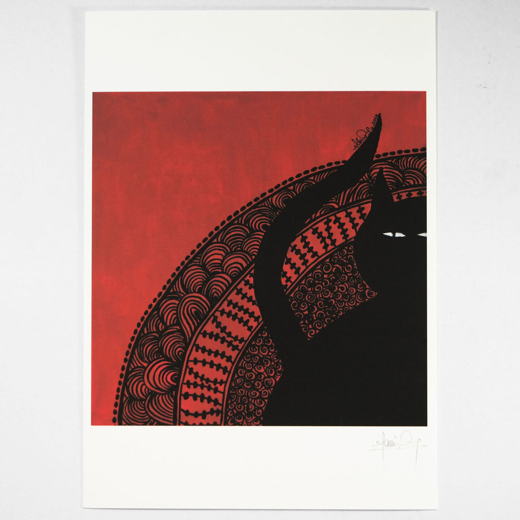 Red (Art Print) , #THATBLACKCAT , Prints - 2