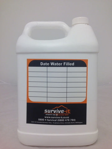 6 x 5 litre Water Containers