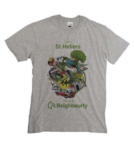 Neighbourly Kiwiana T-Shirt for YOUR Neighbourhood - GREY