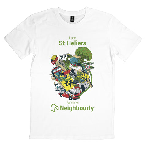 Neighbourly Kiwiana T-Shirt for YOUR Neighbourhood - WHITE