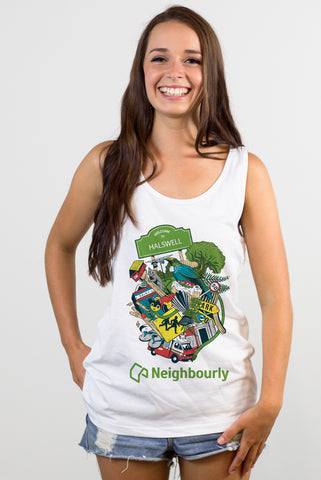 Neighbourly Kiwiana Singlet for YOUR Neighbourhood