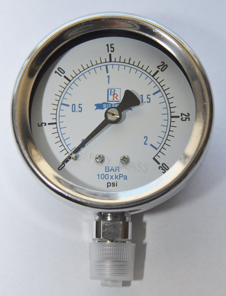 "2.5"" Dial  Bottom Connected Gauge SS Model BR300"