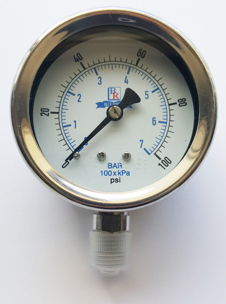 "2.5"" Dial  Bottom Connected Gauge SS Model BR300 , Gauge, NWIM"