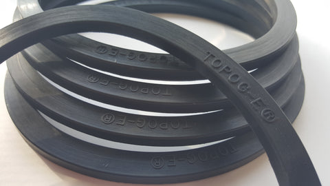 Elliptical Gaskets Molded Rubber for Johnston Boilers , Rubber Gaskets, NWIM