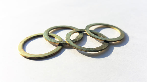 "Brass Friction Ring 5/8"" X 7/8"" Qty (4) , Brass Friction Ring, NWIM"