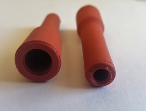 Red Silicone Straight Spark Plug Boot Qty (2) , Spark Plug Boot, NWIM