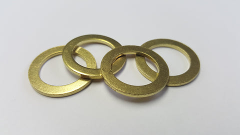 "Brass Washers 5/8"" x 15/16"" Qty (4) , Brass Friction Ring, NWIM"