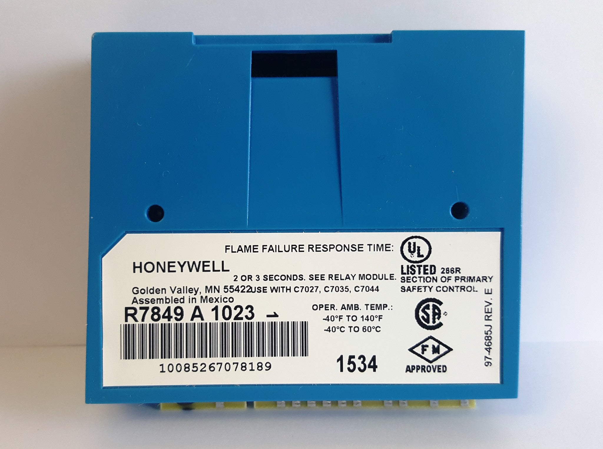 Honeywell R7849A1023 Ultraviolet Flame Amplifier | NWIM | Boiler ...