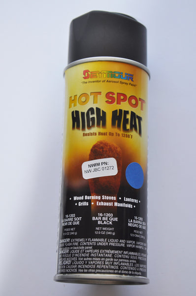 JBC Hi-Heat Flat Black Spray Paint Qty (12)