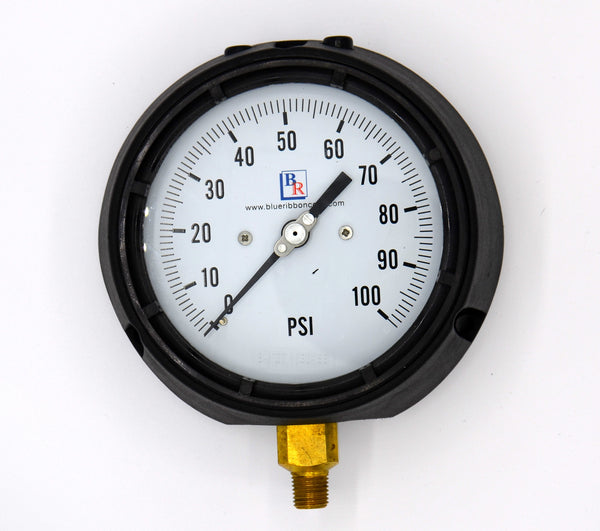"4.5"" Dial Brass Process Pressure Gauge Model BR811D"