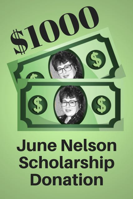 $1000 June Nelson Scholarship Donation