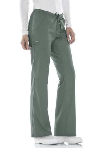 Cherokee Low Rise Straight Leg Drawstring Pant 1066 Olive OLIV