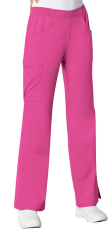 Cherokee Mid-Rise Pull-On Cargo Pant 1067 Fuchsia Rose ROSV