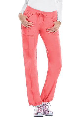Cherokee Low Rise Straight Leg Drawstring Pant 1123A Apricot Delight ADPS