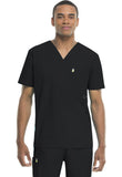 Code Happy Men's V-Neck Top 16600AB Black BXCH