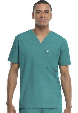 Code Happy Men's V-Neck Top 16600AB Teal TLCH