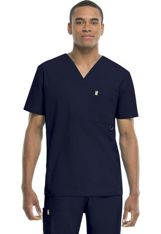 Code Happy Men's V-Neck Top 16600A Navy NVCH
