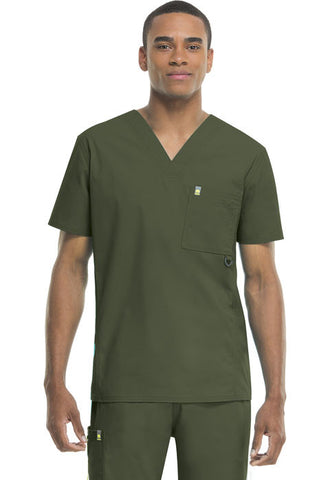 Code Happy Men's V-Neck Top 16600A Olive OLCH