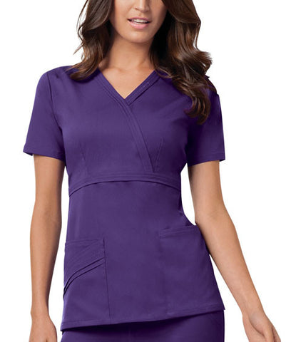 Cherokee Mock Wrap Top 1841 Nu-Grape GRPV