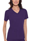 Cherokee V-Neck Knit Panel Top 1909 Grape GRPB