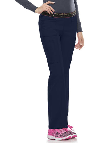 "HeartSoul ""BFF"" Mid Rise Elastic Waist Cargo Pant 20100 Navy NAYH"