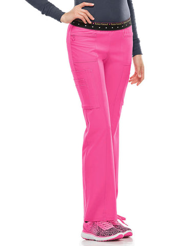 HeartSoul BFF  Mid Rise Elastic Waist Cargo Pant 20100 Pink Party PNKH