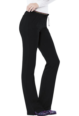 "HeartSoul ""Heart Breaker"" Low Rise Drawstring Pant  Petite 20110P Black BCKH"