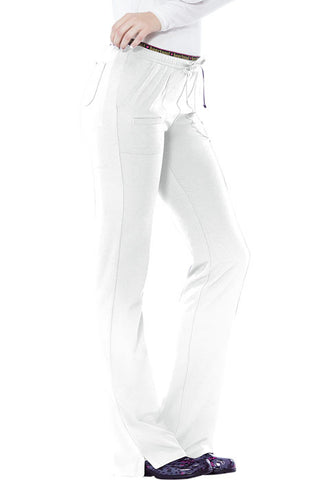 "HeartSoul ""Heart Breaker"" Low Rise Drawstring Pant  Tall 20110T White WHIH"