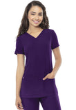 "HeartSoul ""Pitter-Pat"" Shaped V-Neck Top 20710 Eggplant EGPH"