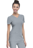 "HeartSoul ""Pitter-Pat"" Shaped V-Neck Top 20710 Grey GRXH"