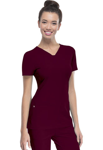 "HeartSoul ""Pitter-Pat"" Shaped V-Neck Top 20710 Wine WINH"