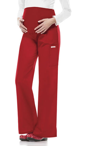 Cherokee Maternity Knit Waist Pull-On Pant 2092 Red REDB