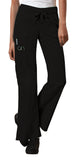 Cherokee Workwear Low Rise Drawstring Cargo Pant 24001 Black BLKW