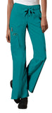 Cherokee Workwear Low Rise Drawstring Cargo Pant 24001 Teal Blue TLBW